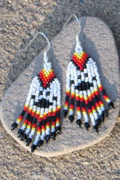 Wolf Paw Beaded Earrings  10 Discount by CreationsbyWhiteWolf, $15.00
