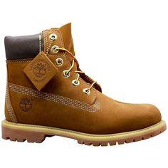 Timberland 6-Inch Premium Waterproof Boots - Rust Nubuck - Women's