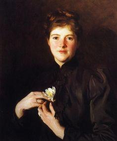 John Singer Sargent (American expatriate artist, 1856-1925) Mrs Augustus Hemenway