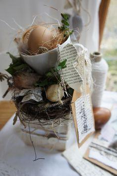 """Ostertischdeko - Osterdeko """" Hasenfest in der Tasse...."""" - ein Designerstück von Hoimeliges bei DaWanda"""