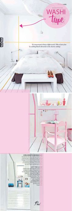 furthering my obsession w/washi tape--people are putting.it.on.the.walls. so flipping creative!