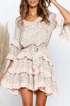 Φόρεμα RALIZA - Κοντά φορέματα   Ivet.EU Fall Dresses, Short Dresses, Pink Dresses, Short Skater Dress, Everyday Dresses, Dress For Short Women, Dress Brands, Boho Dress, Autumn Fashion