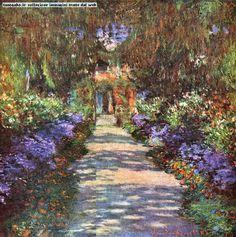immagini originali di claude monet - il viale del suo giardino