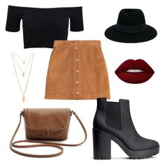 """""""Fall"""" by jocelyn-painter on Polyvore featuring American Apparel, Emilio Pucci, H&M, Forever 21, Maison Michel and Lime Crime"""