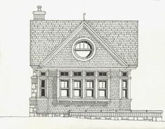 David McTyre: These are a series of sketchbook design studies for a vacation cottage on Cape Cod in Truro, Massachusetts. Architecture Drawings, Amazing Architecture, Architecture Design, Victorian Architecture, Contemporary Architecture, Cottage Design, House Design, Elevation Drawing, Urban Design Plan