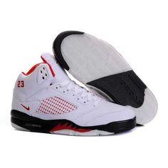 size 40 44333 45365 Air Jordan V 5 Retro white black red