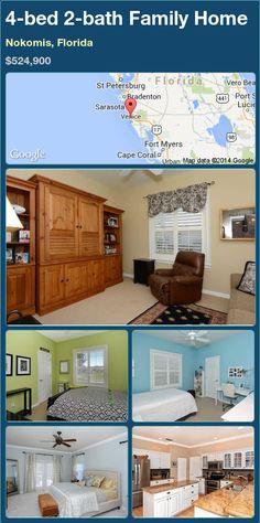 4-bed 2-bath Family Home in Nokomis, Florida ►$524,900 #PropertyForSale #RealEstate #Florida http://florida-magic.com/properties/82022-family-home-for-sale-in-nokomis-florida-with-4-bedroom-2-bathroom