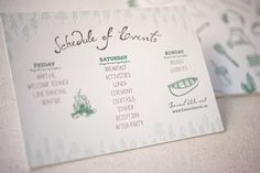 Summer Camp Wedding Invitations by Gus & Ruby Letterpress via Oh So Beautiful Paper (13)
