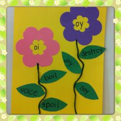 Spring Blossoms craft featuring vowel digraphs or diphthongs.
