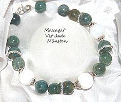 Mossagat och vit Jade - f�r ekonomisk tur