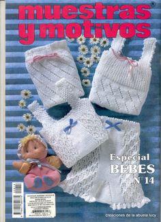 "Photo from album ""Muestras y Motivos on Yandex. Knitting Books, Crochet Books, Hand Knitting, Baby Knitting Patterns, Baby Patterns, Crochet Patterns, Crochet For Kids, Crochet Baby, Knit Crochet"