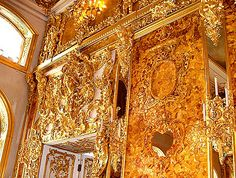 Amber Room at the Catherine Palace Pink Master Bedroom, Ivory Elephant, Amber Room, Paris Opera House, Winter Palace, Summer Palace, Royal Art, Peter The Great, Fancy Houses