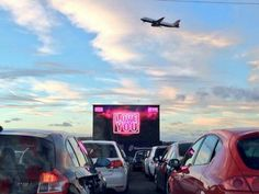 Itison Drive-in movie at Edinburgh Airport on Valentine's Day showing classics Top Gun and The Notebook.