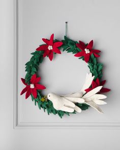 """Artisan"" Dove Christmas Wreath by Arcadia Home at Neiman Marcus."