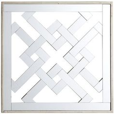 Mirrored Diamond Wall Decor.  Think about doing a grouping of smaller mirrors on a large wall to make a big impact!