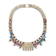 Rolex Bib Chain Multicolor Necklace