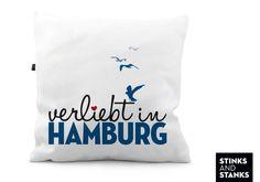 Kissen verliebt in Hamburg KS149 von STINKSANDSTANKS - Individualisierbare Geschenke auf DaWanda.com