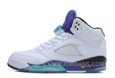 http://www.bejordans.com/big-discount-air-jordan-5-retro-white-new-emeraldgrapeice-blue-for-sale-online-6rtxg.html BIG DISCOUNT! AIR JORDAN 5 RETRO WHITE/NEW EMERALD-GRAPE-ICE BLUE FOR SALE ONLINE 6RTXG Only $85.00 , Free Shipping!