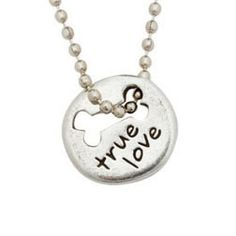 True Love with Bone Pewter Necklace   PupLife Dog Supplies