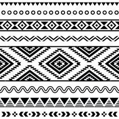 19482468-Tribal-seamless-pattern-aztec-black-and-white-background-Stock-Vector.jpg (1300×1300)