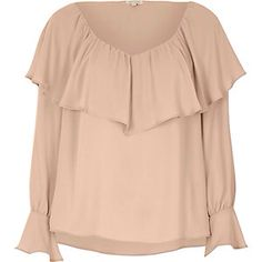 Frilled Trumpet Sleeve Top from River Island R600,00