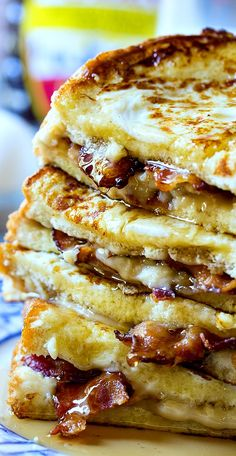 Bacon Stuffed French Toast- sub low carb French toast