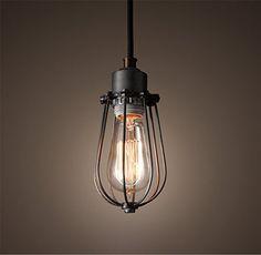 Unique Purelume Retro Vintage K fig Lampe Pendelleuchte Antik Schwarz inkl W Edison Gl hbirne