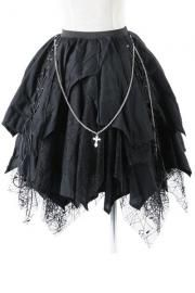 Cathedral Witchy Black Gothic Skirt by Punk Rave