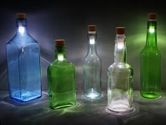 Turn your empty glass bottles into lamps using this cork shaped, bright, LED rechargable light. Recharge with USB, perfect as a centre piece on a table or outdoors as the wind can't blow it out. Led Bottle Light, Bottle Lights, Empty Glass Bottles, Mood Lamps, Usb Stick, Cork, H & M Home, Luz Led, Led Lampe