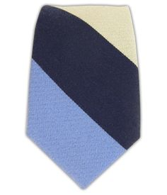 Big Wool Stripe - Navy/Sky/Khaki (Skinny) | Ties, Bow Ties, and Pocket Squares | The Tie Bar