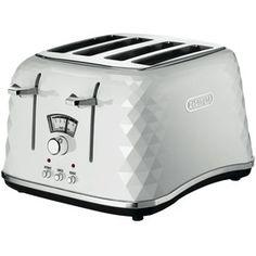 Brilliante 4 Slice White Toaster