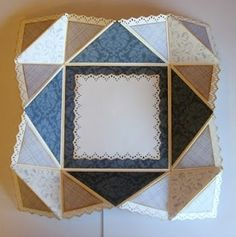 This is a great tutorial on how to make a beautiful folding card.