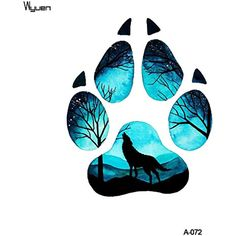 WYUEN 5 Sheets Wolf Footprint Body Art Temporary Tattoo Sticker For Men Women Fake Waterproof Women Temporary Tattoo New Designs 9.8X6cm FA-072 >>> To view further for this item, visit the image link. (This is an affiliate link) #NoveltyGagToys