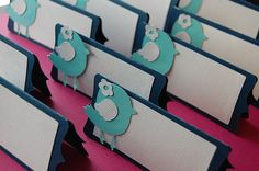 Bird Seating Cards, Bird Place Cards, Escort Cards, Wedding, Name Cards, Bird Theme, Bridal Shower, Baby Shower
