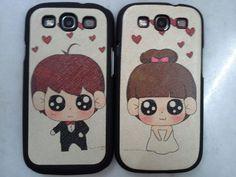 Couple phone casing