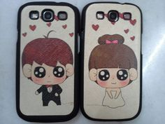 Couple phone casing