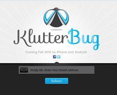 Klutter Bug website design