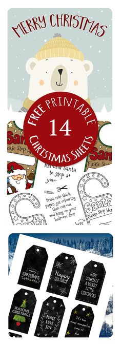 Come and grab your FREE bumper set of Christmas printable A4 sheets, includes gift tags, Santa letters, children's thank you letters, reindeer food labels, Santa magic key tag, Christmas prints, photo booth props and more!