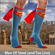 ThinkGeek :: Superhero Caped Socks - now these are cool!