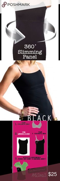 Slimming Nursing Top Cami Undercover Mama Make any top a nursing top. The undercover mama attaches to your own bra or nursing bra to keep your tummy covered😱This post is for a slim mama which has a tummy panel built in!Prices FIRM unless bundled 😘 I nursed for 3 yrs used these. We are an actual maternity store and receive the Amazon returns for Undercover mama. They are still new and most have tags still attached! There are no straps, just hook it into your own bra and GO! View more info…