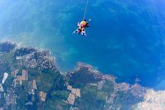 Panorama sur la mer - côte vendéenne - saut tandem
