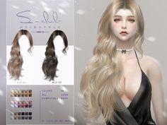 Sims 4 Mods Clothes, Sims Mods, Sims 4 Cc Skin, Sims Cc, Club Hairstyles, Female Hairstyles, Mod Hair, The Sims 4 Cabelos, Pelo Sims