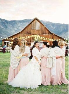 Barns, bridesmaids and shawls