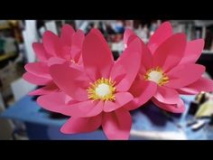 DIY large lotus flower for Chinese New Year display.. Flower, How, Paper, Make,