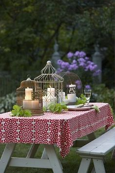 love the candles in a cage