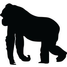 Gorilla Silhouette Silhouette Gorilla Wall More