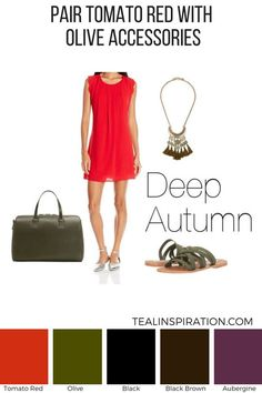 How to Wear Red if You're a Deep Autumn