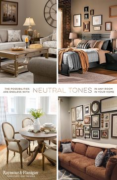 What better way to highlight key elements in your favorite room? Accentuate with neutral tones throughout and make a bold statement in the most subtle way. Warm, tranquil colors and patterns can bring a zen order to the atmosphere, while multi-layered textiles and accent pieces tap off the perfect design to your favorite space. Show off your latest style with our recommendations or save ideas for your next big makeover.