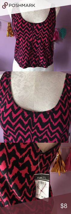 Red Black Cropped Tank BRAND NEW WITH TAGS!!!! NEVER USED!!! Rue 21 Tops Crop Tops