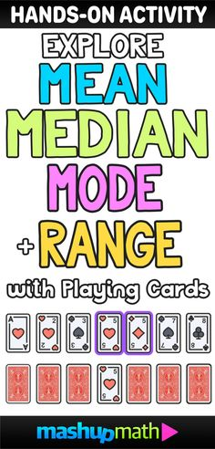 Are you looking for a fun hands-on group activity for teaching mean, median, mode, and range? Includes a free lesson plan guide and worksheet worksheets grade, grade 6 learning standard) Math Teacher, Math Classroom, Teaching Math, Teacher Stuff, Teaching 6th Grade, Classroom Behavior, Teacher Tools, Teaching Ideas, Classroom Ideas